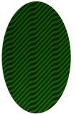 rug #1017429   oval green animal rug