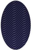 rug #1017457 | oval blue-violet animal rug