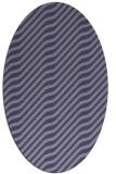 rug #1017461 | oval blue-violet animal rug