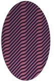 rug #1017465 | oval blue-violet popular rug