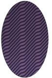 rug #1017469 | oval blue-violet animal rug