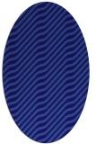 rug #1017473 | oval blue-violet animal rug