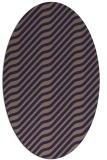 rug #1017477 | oval blue-violet stripes rug