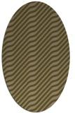 rug #1017485 | oval mid-brown stripes rug