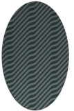 rug #1017501 | oval green animal rug