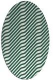 rug #1017505   oval green animal rug