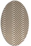 rug #1017521 | oval beige animal rug