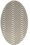 rug #1017525 | oval white stripes rug