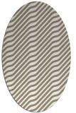 rug #1017525 | oval white animal rug