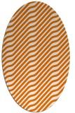 rug #1017573 | oval orange rug