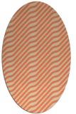 rug #1017577 | oval beige animal rug
