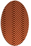 rug #1017581 | oval red-orange animal rug
