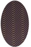 rug #1017609 | oval purple rug
