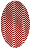rug #1017617 | oval red stripes rug