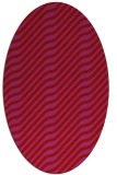 rug #1017629 | oval red animal rug