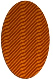 rug #1017633 | oval red-orange stripes rug