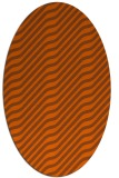 rug #1017641 | oval red-orange stripes rug