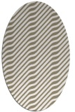 rug #1017677 | oval beige stripes rug