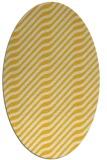 rug #1017681   oval yellow animal rug