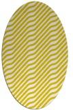 rug #1017689 | oval yellow animal rug