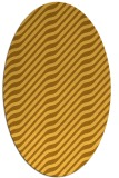 rug #1017693 | oval light-orange stripes rug