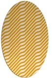 rug #1017717 | oval light-orange animal rug
