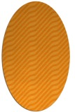rug #1017725 | oval light-orange stripes rug