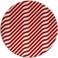 rug #1018345 | round red stripes rug