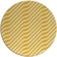 rug #1018409 | round yellow animal rug