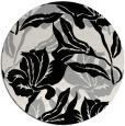 rug #1018933 | round black natural rug