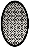 rug #1018965 | oval black circles rug