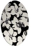 rug #101901 | oval black natural rug