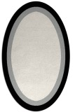 rug #1019105 | oval plain black rug