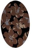 rug #101913 | oval brown rug