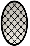 rug #1019185 | oval black borders rug