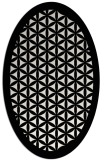 rug #1019305 | oval black traditional rug