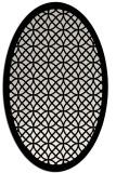 rug #1019445 | oval black borders rug