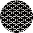 rug #1019633 | round black traditional rug
