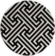rug #1019653   round black retro rug