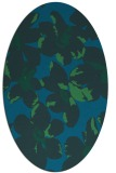 rug #101977 | oval blue-green natural rug