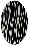 rug #1019805 | oval black natural rug
