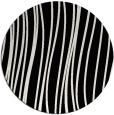 rug #1019813 | round black natural rug