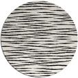 rug #1019853 | round black stripes rug