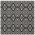 rug #1020026 | square black retro rug