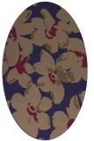 rug #102005 | oval beige natural rug