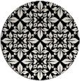 rug #1020058 | round black geometry rug