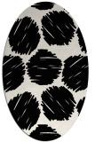rug #1020130 | oval black retro rug