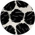 rug #1020138 | round black retro rug