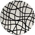 rug #1020198 | round black stripes rug