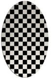 rug #1020210   oval black retro rug